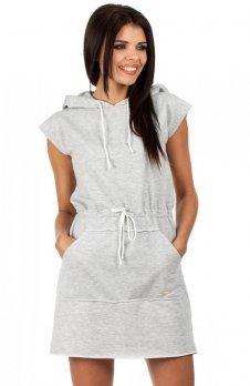 Moe MOE101 sukienka szara