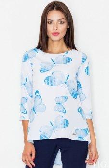 *Figl M505 bluzka niebieskie motyle