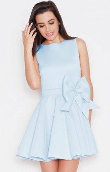 Katrus K271 sukienka niebieska