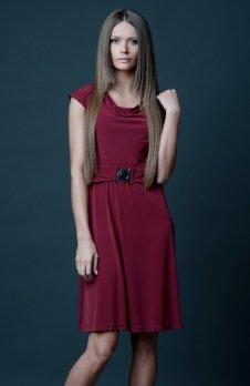 Vera Fashion Milena sukienka bordowa
