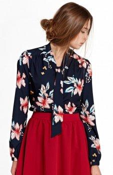 *Nife B94K/G bluzka w kwiaty granatowa