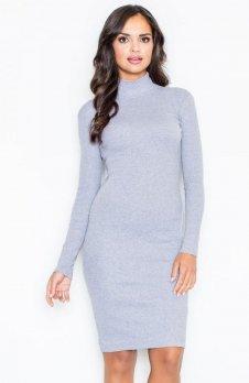 Figl M332 sukienka szara