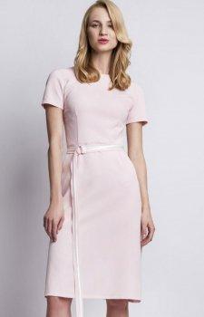 Lanti SUK127 sukienka pudrowy róż