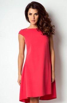 Ivon 184 sukienka malinowa czerwień