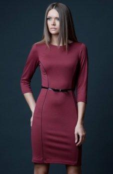 Vera Fashion Pola sukienka bordowa