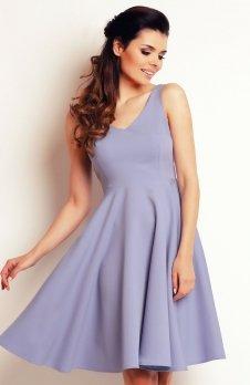 Awama A139 sukienka jasny niebieski