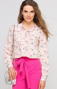 Lanti K104 koszula jaskółki róż