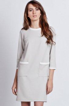 Lanti SUK103 sukienka szara