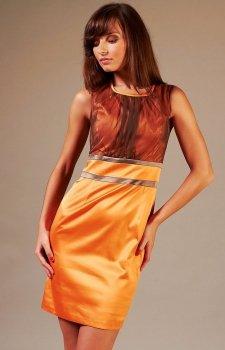 Vera Fashion Valerie sukienka pomarańcz