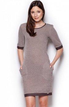 Figl M348 sukienka brąz