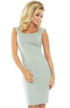 Numoco 53-32 sukienka szara jodełka