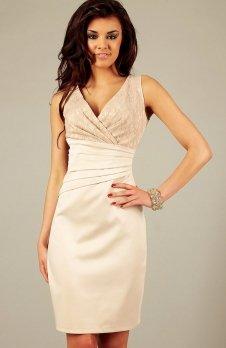 Vera Fashion Oriana sukienka beżowa z koronką