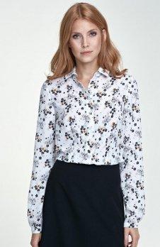 Nife B70 koszula ecru kwiaty
