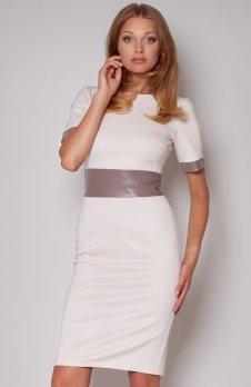 Figl M204 sukienka beż