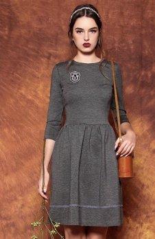 Kasia Miciak design sukienka z naszywką