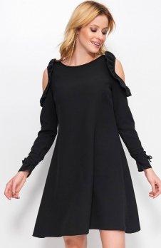 Makadamia M402 sukienka czarna