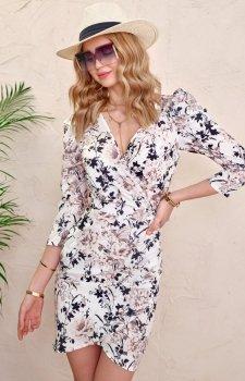 Ołówkowa sukienka w kwiaty 0329/L02
