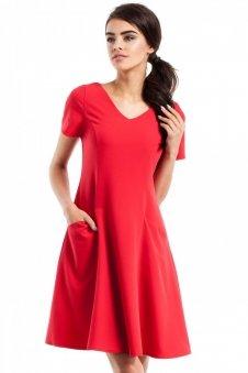 Moe MOE233 sukienka czerwona