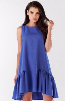 Awama A176 sukienka niebieska