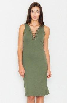 Figl M487 sukienka zielona