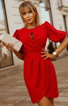 Bicotone sukienka wizytowa z bufkami 2221-02