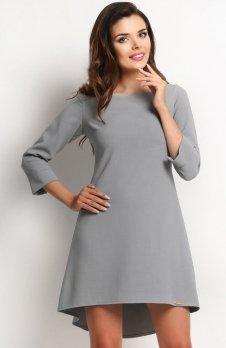 Awama A115 sukienka szara