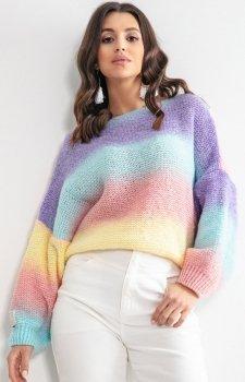 Pastelowy oversizowy sweter elnido F1162