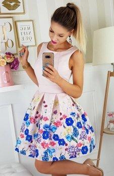Bicotone 2200-17 sukienka łososiowa