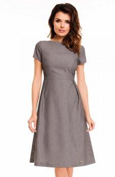 Awama A130 sukienka szara