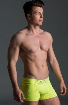 EXZO bokserki męskie mikrofibra żółty neon