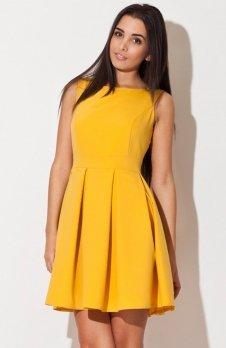 Katrus K128 sukienka żółta