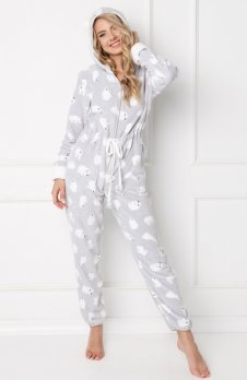 Aruelle Polar Bear Onesie Grey kombinezon