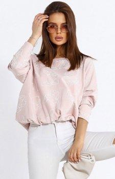 Oversizowa bluza w buldogi 103-12