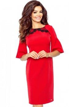 Bergamo 71-01 sukienka czerwona