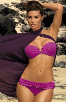 Marko Kostium kąpielowy Shanon Burlesque M-323 różowy (36)