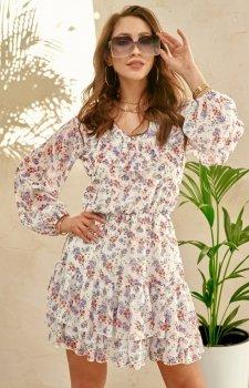 Szyfonowa sukienka w kwiaty 0324/U32
