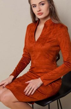 Cover GR1418 sukienka terakota