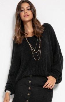*Luźny oversizowy sweter czarny F1066