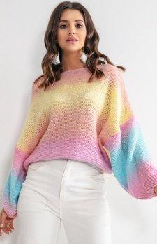 Pastelowy oversizowy sweter bali F1162