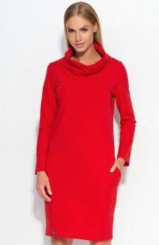 Makadamia M331 sukienka czerwona