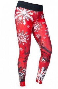 FeelJ! Thermo Winter Black Deer legginsy