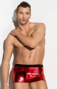 Błyszczące bokserki męskie czerwone Fabian
