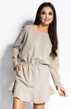 Dursi Flo sukienka beżowa