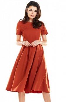 Sukienka ceglasta Awama A253