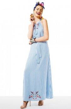 Kasia Miciak design amore w paski sukienka