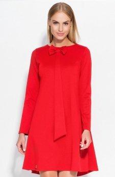*Makadamia M320 sukienka czerwona
