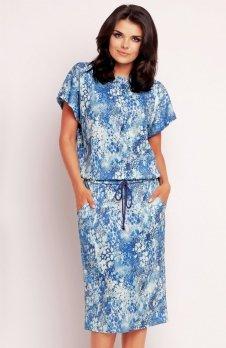 Awama A145 sukienka niebieska