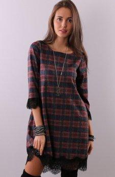 Roco 0222 sukienka kratka czerwona