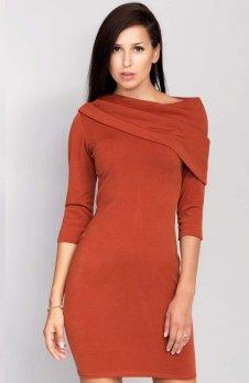 Cover ММ1002 sukienka ruda