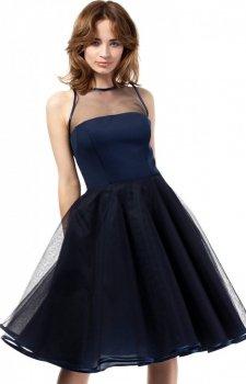 Moe MOE148 sukienka granatowa